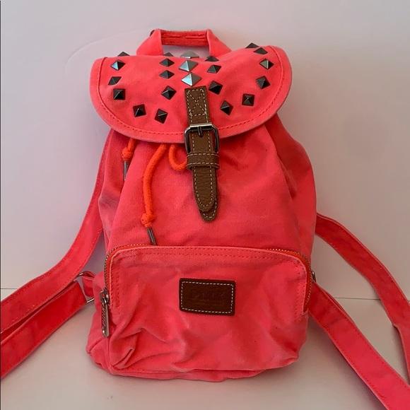 HOT Victoria Secret Pink Mini Backpack Iridescent Silver Bag NWT!! VERY CUTE